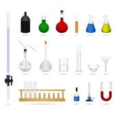 Bilim laboratuvar laboratuvar donatım araç — Stok Vektör