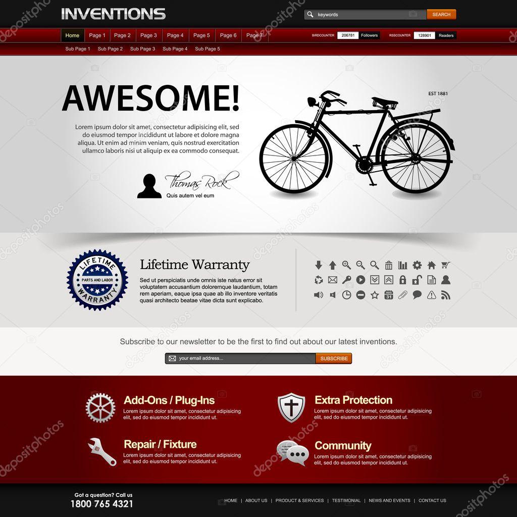 Web Design Website Element Template — Stock Vector © leremy #5239644