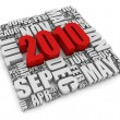 Year 2010 - Stockfoto