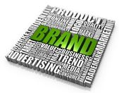 Group of brand related words. Part of a series of business concepts. — Stock Photo