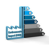 Environmental Impact (CO2) Rating Chart — Stock Photo