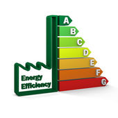 Energy Efficiency Rating Chart — Stock Photo