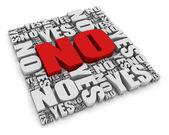 No! — Stock Photo
