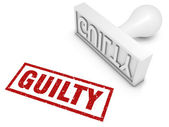 Guilty! — Stock Photo