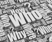 Who? — Stock Photo