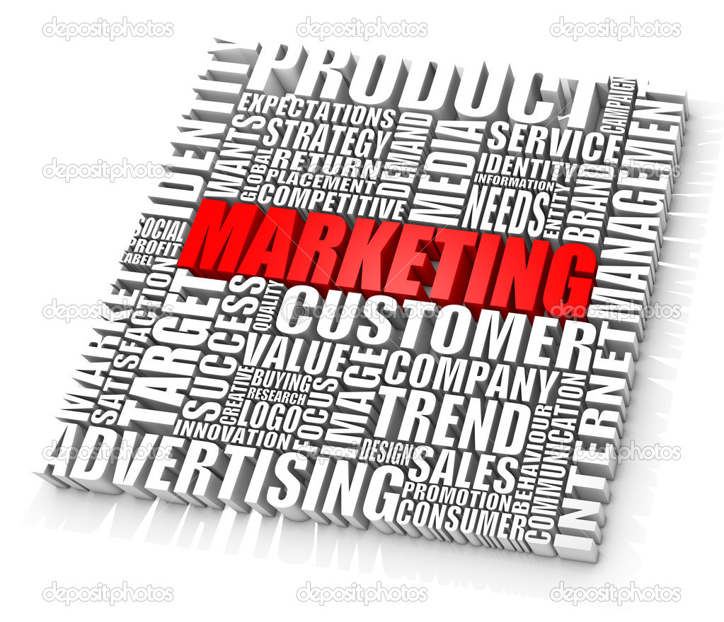 Group of marketing related words. Part of a series of business concepts. — Stockfoto #3951795