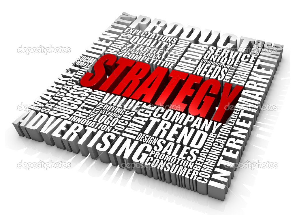 Group of Strategy related words. Part of a series of business concepts. — Stock Photo #3956032