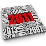 Year 2011 AD — Stock Photo