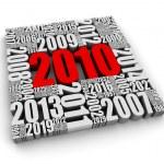 Year 2010 AD — Stock Photo
