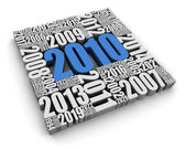 Year 2010 AD — Stock Photo