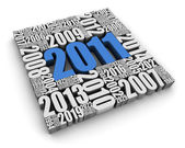 Year 2011 AD — Stock Photo