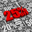 Sale 25% Off! - Stockfoto