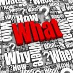 Vad? FAQ — Stockfoto