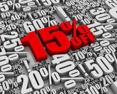 Sale 15% Off! — Stock Photo