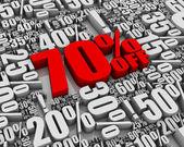 Sale 70% Off! — Stock Photo