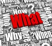 What? Faq — Foto Stock