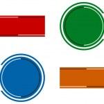 formas abstractas insignia — Vector de stock  #4172950