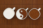 Yin Yang coffee — Stock Photo
