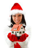 New house for Christmas — Stock Photo
