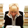 Tired in learning — Stock Photo