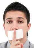 Censored speech — Stock Photo