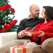 Christmas couple — Stock Photo #4274343