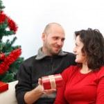 Christmas couple — Stock Photo #4274347