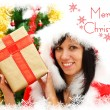 Stock Photo: Christmas girl with gift