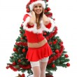 Sexy female Santa — Stock Photo