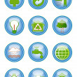 Environmental conservation icons — Stock Vector