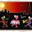 Jazz at night — Stock Vector