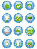 Environmental conservation icons — Vector de stock