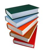 Libros colores sobre fondo blanco — Foto de Stock