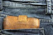 Wallet in jean pocket — Stock Photo