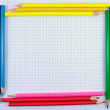 Pencils frame — Stock Photo
