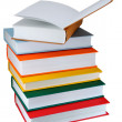 Colored books on white background - 图库照片