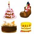 Cakes set — Stockvectorbeeld