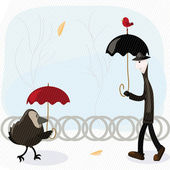 Rain man — Stock Vector