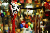 Asian style souvenir in Thai vintage market — Stock Photo