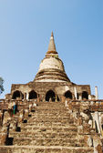 Ancient Buddha Pagoda in Thai Ancient Temple — Stock Photo