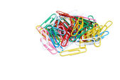 Colorful Paperclips Isolated — Стоковое фото