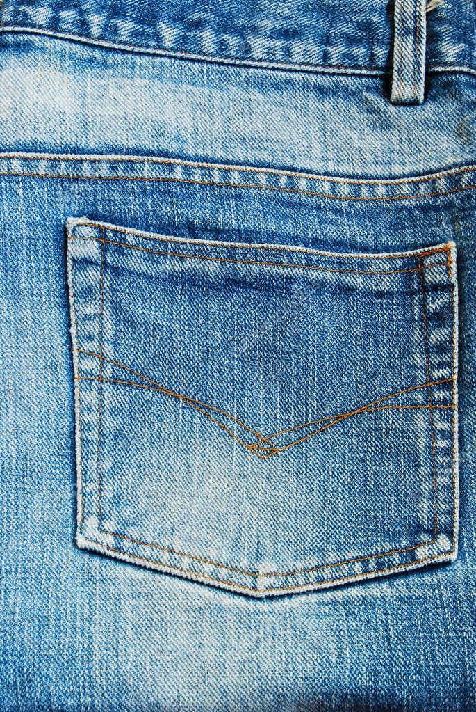 Jeans Back Pocket Texture Blue jeans back pocket...