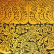 Ancient Thai pattern on wall in Thailand Buddha Temple - Stok fotoğraf