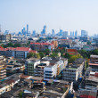Skyline and the building in Bangkok Thailand - Stock Photo