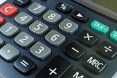 Closeup of calculator detail — Stock Photo
