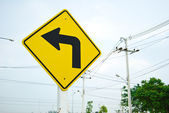 Turn left traffic sign symbol — Stock Photo