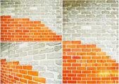 Collectie van bakstenen muur — Stockfoto