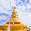 Golden Pagoda in Buddha temple - Stock Photo