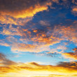 Beautiful twilight sunrise sky — Stock Photo