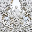 White Buddha art in temple — Stock Photo